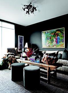 36 Stylish Dark Living Room Designs | Interior Decor
