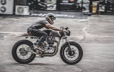 Royal Enfield Cafe Racer - The Zeno Racer Project by Zeus Custom   #motorcycles #caferacer #motos | caferacerpasion.com