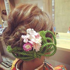 和装ヘアセット♥︎ #帯締めでヘアアクセサリー #帯締め #和装ヘア #成人式ヘア #和装 Japanese Hairstyle, Updos, Wedding Hairstyles, Nihon, Hair Styles, Instagram Posts, Beauty, Fashion, Kimonos