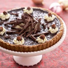 Satisfy your sweet tooth with this Chocolate-Hazelnut Tart.