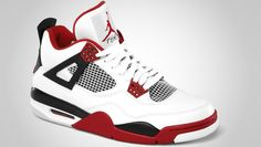 Air Jordan Retro 4 - White Varsity Red-Black - Official Images  2922e080c7