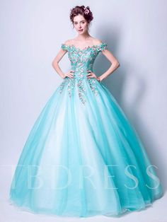 Green tulle lace off shoulder long prom dress, green evening dress Ball Gown Dresses, Prom Dresses Blue, Prom Party Dresses, Bridal Dresses, Robes Quinceanera, Cheap Quinceanera Dresses, Cheap Prom Dresses, Green Evening Dress, Quince Dresses