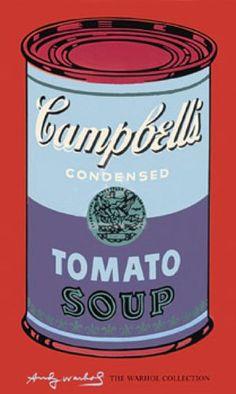 Andy Warhol, Soupe Campbell bleu & violet 1965, ©