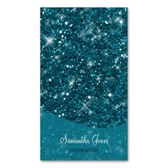Turquoise Glitter Pattern Business Card Template (also available in other classy colors) #glitter#personalized#customized#businesscards#feminine#classy#turquoise#sparkling#elegant#bling#girly#glamourous#stylish#fancy#glitzy#trendy#fashionable#templates