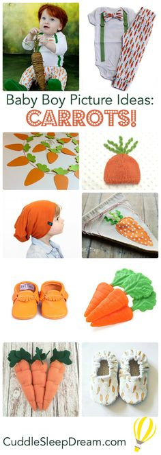 baby boy easter picture ideas: carrots