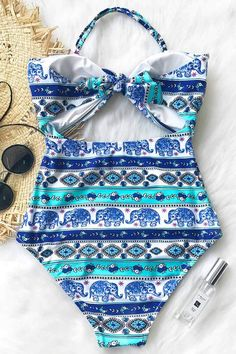 ad224621a6 Cupshe Sunseeker Cyprus Print One-piece Swimsuit Trendy Summer Outfits,  Amazing Ideas, Swim