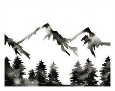 Print of Original Watercolor . The Wild