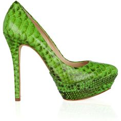 Alexandre Birman Python pumps ($263) ❤ liked on Polyvore