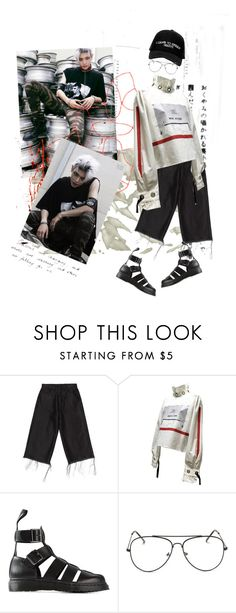 """""""NCT 127 FIRE TRUCK TAEYONG"""" by bbambi02 ❤ liked on Polyvore featuring Marques'Almeida, Dr. Martens and Manolo Blahnik"""
