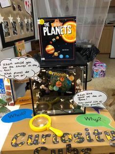 Creating and Using Curiosity Cubes Adult Guidance - Eyfs Activities, Space Activities, Planets Activities, Steam Activities, Eyfs Classroom, Classroom Displays, Space Classroom, Class Displays, Sistema Solar