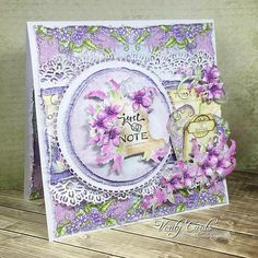 Im having fun with this collection! Loving using layers in my cards too! #lizgaze #heartfeltcreations #lushlilac #papercraft #crafting #handmade #creative #flowermaking #paperflowers #cards