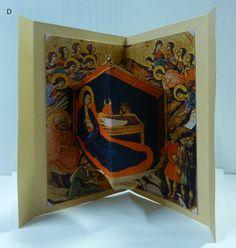 biglietti natalizi. PRESEPI in 3D da famosi dipinti. This is from Giotto. Click the image to see more.