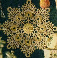 centrino schema uncinetto | Hobby lavori femminili - ricamo - uncinetto - maglia