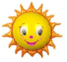 Sun Balloons   HUGE 30 inch Balloon Happy Smile Face by Drawcord18
