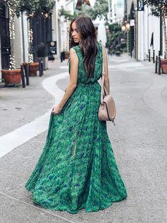 06685e9410 Green Bohemia Sleeveless Printed Maxi Dress Linen Dresses