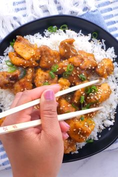 Orange Chicken Recipes, Healthy Orange Chicken, Orange Recipes, Asian Recipes, Mexican Food Recipes, Healthy Recipes, Quick Weeknight Dinners, Easy Meals, Yummy Recipes For Dinner