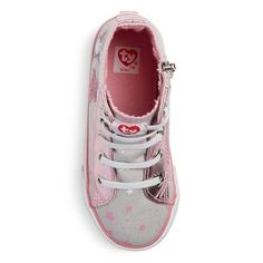 Toddler Girls' Beanie Boos Kiki High Top Sneakers - Gray 11, Toddler Girl's
