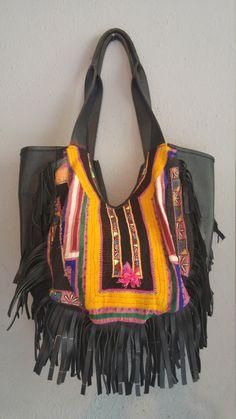 Leather Fringe Bag von MiriamStrehlau auf Etsy