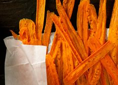 Carrot Chips Recipe-I have a gazzilion carrots in my fridge right now.