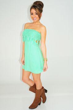 Make It Feel Right Dress: Seafoam