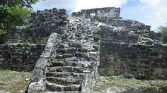 Mayan Ruins at San Gervasio in Cozumel, Mexico
