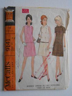 384e744b Vintage 60s Mod Drop Waist Shift Dress Summer Sleeveless or 60s Mod, Miss  Dress,