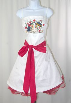 Day of the dead embroidered bridesmaid dress