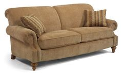 Bexley traditional sofa with nail head trim by flexsteel for Bedroom furniture in zanesville ohio