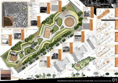 Riqualificazione Dell'area Verde Sita In Via Aurelio Saffi – Picture gallery – Keep up with the times. Landscape Architecture Drawing, Architecture Concept Drawings, Landscape Design Plans, Architecture Plan, Urban Landscape, Classical Architecture, Ancient Architecture, Sustainable Architecture, Urbane Analyse