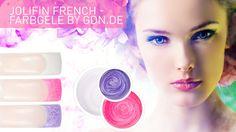 Weißes French ist Euch zu langweilig? Dann holt Euch die French Farbgele von Jolifin. http://www.german-dream-nails.com/uv-gel-acryl/jolifin-farbgel/french-farbgele #jolifin #nails #nailart #farbgele #nagelmodellage #fingernägel