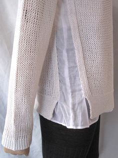 Расширяем свитер Модная одежда и дизайн интерьера своими руками