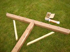 Handmade Wooden Clothesline Pole Kit by WindyHillsCompany on Etsy