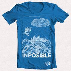 "Camiseta azul ""IMPOSIBLE 1"""