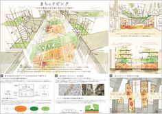 結果発表|第12回ダイワハウスコンペティション|大和ハウス Presentation Format, Presentation Board Design, Architecture Presentation Board, Urban Analysis, Sport Hall, Architecture Plan, Shade Garden, Urban Design, Competition