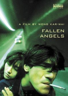 "Film captures nothing; it puts things in motion. In Wong's film, there is no still shots, the camera moves along with the action. Series of dutch angles are used in the 'Fallen Angels"". Very indulging. Fallen Angel Movie, Fallen Angels 1995, Movies To Watch, Good Movies, Greatest Movies, Chungking Express, Angel Falls, Takeshi Kaneshiro, Bon Film"