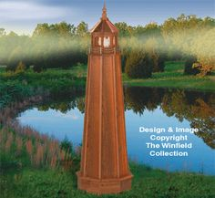 How to Build a 4 ft. Wooden Lawn Lighthouse. DIY Wood