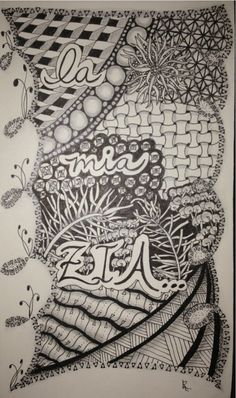First page of a new sketchbook. ZIA = Zentangle Inspired Art #zentangle