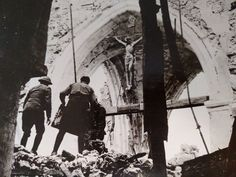 "TheTattooedHistorian on Twitter: ""Crucifix remains in this bombed out church in Vaux, France in 1918. #WWI #USArmy #Faith #WesternFront https://t.co/1DruUgK4Gk"""