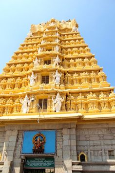 Mysore is a nice place to visit, with it's palace and it's flower market. I also liked the Chamundeswari Temple there. You can read all about it in my blogpost. #mysore #india #travel #chamundeswaritemple