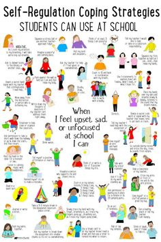 What's Included: ✔ 50 Self-Regulation Coping Strategies Students Can Use at School poster ✔ Checklist to identity coping skills ✔ Spinner Craft ✔ Task Cards perfect to use in your Calm Down Corner, Zen Zone, Peace Center area. Calm Down Corner, Emotional Regulation, Self Regulation Strategies, Zones Of Regulation, Counseling Activities, Elementary Counseling, School Counseling Office, Group Counseling, Anger Management Activities For Kids