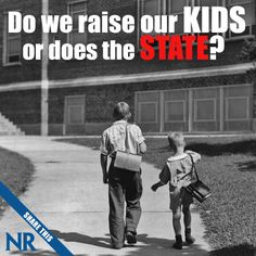 """Charles C.W. Cooke: """"Contrary to the now infamous beliefs of the likes of Hillary Clinton and Melissa Harris-Perry, children in America do not 'belong' to the community — and nor would Americans be any better off if they did."""" Read the full story: http://natl.re/19J1a4D 