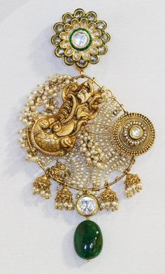 'Chand Bali' collection by Falguni Mehta, The classical Mughal era earrings.