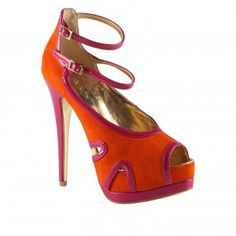 Pink And Orange High Heels | Tsaa Heel