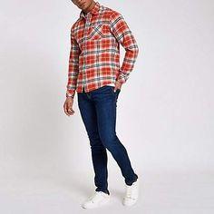 a5da19e0a86 River Island Pepe Jeans dark blue skinny fit jeans