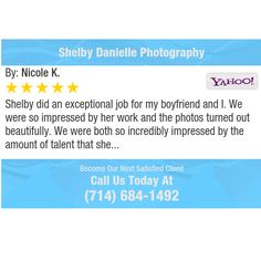 Shelby did an exceptional job for my boyfriend and I. We were so impressed by her work and...