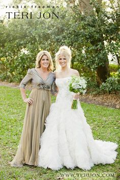 This mother daughter duo look beautiful! Shop this mother of the bride gown at Teri Jon, coming back this summer in new colors. This dress photographs beautifully outdoors and is a splendid choice for your intimate ceremony. Brides Mom Dress, Mother Of The Bride Dresses Long, Mothers Dresses, Rustic Wedding Dresses, Country Wedding Dresses, Wedding Dresses Plus Size, Country Wedding Attire, Groom Attire, Bridesmaid Dress