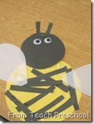 Insects Theme for Preschool/Daycare | Bumble Bee Craft                                                                                                                                                     More