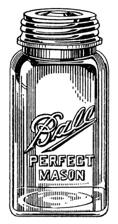 Mason Jars: Tons of vintage clip art via The Graphics Fairy