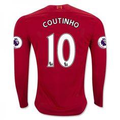 a025d3958 Liverpool FC Jersey Season Home LS Soccer Shirt BENTKE