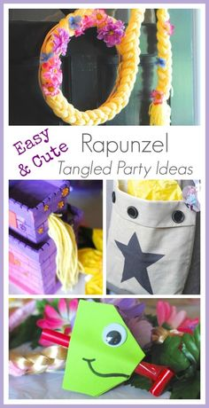 Tangled Birthday Party Ideas and Crafts for the Kids! #party #Tangled via www.makinglemonadeblog.com